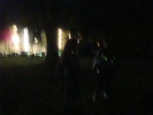 Ghosts of Gettysburg - soldier standing between the ladies