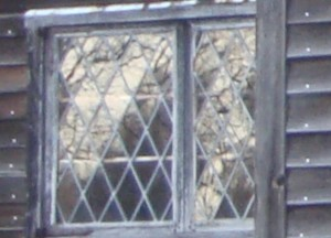 Salem Village Meeting House - closeup- anomaly in window