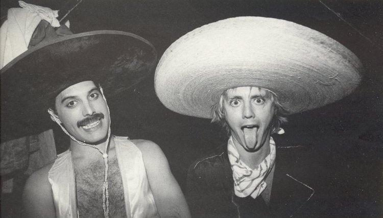 Freddie Mercury and Roger Taylor