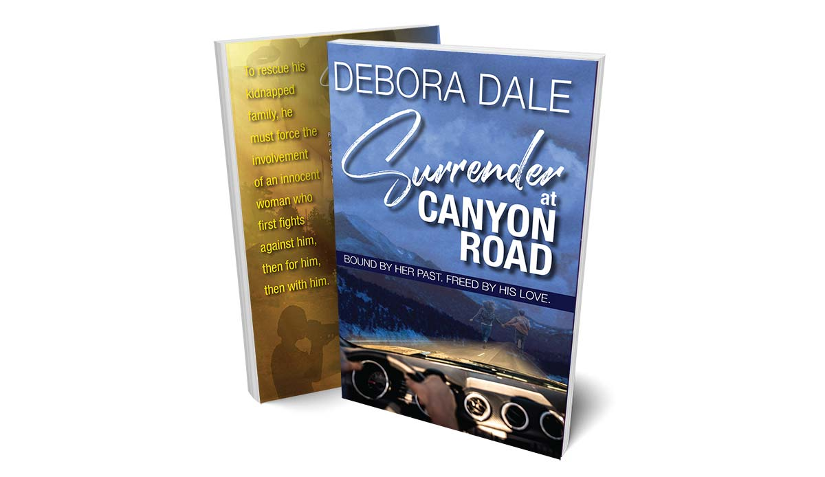 "Product shot of suspense romance ""Surrender at Canyon Road"""