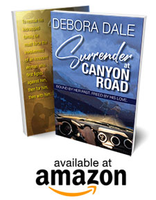 "Canyon Road book by Debora Dale product shot with ""available at amazon"" badge"